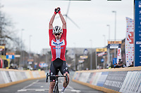 Kasper Asgreen (DEN/Deceuninck - Quick Step) solo's to victory in the 64th E3 Classic 2021 (1.UWT)<br /> <br /> 1 day race from Harelbeke to Harelbeke (BEL/204km)<br /> <br /> ©kramon