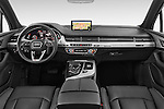 Stock photo of straight dashboard view of 2016 Audi Q7 S Line 5 Door Suv Dashboard