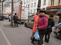 FILE PHOTO : asian prostitute in the street of Paris France before the new law making it a criminal offence to sollicit adult sex workers.