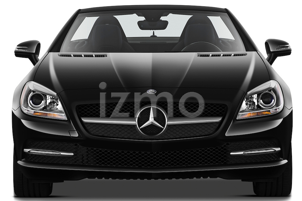 Straight front view of a 2013 Mercedes SLK Class