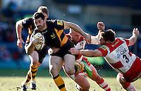 Photo: Richard Lane/Richard Lane Photography. London Wasps v Gloucester Rugby. Aviva Premiership. 17/02/2013. Wasps' Andrea Masi attacks.
