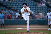 Winston-Salem Dash starting pitcher Dan Metzdorf (32) in action against the Hickory Crawdads at Truist Stadium on July 10, 2021 in Winston-Salem, North Carolina. (Brian Westerholt/Four Seam Images)