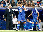 Getafe's coach Luis Garcia during La Liga Match. September 10, 2011. (ALTERPHOTOS/Alvaro Hernandez)