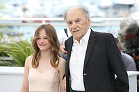 FANTINE HARDUIN AND JEAN-LOUIS TRINTIGNANT - PHOTOCALL OF THE FILM 'HAPPY END' AT THE 70TH FESTIVAL OF CANNES 2017