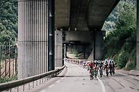 peloton chasing down the breakaway<br /> <br /> Stage 5: Grenoble > Valmorel (130km)<br /> 70th Critérium du Dauphiné 2018 (2.UWT)