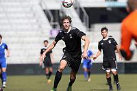 Orlando, Florida - Wednesday January 17, 2018: Wyatt Omsberg. Match Day 3 of the 2018 adidas MLS Player Combine was held Orlando City Stadium.