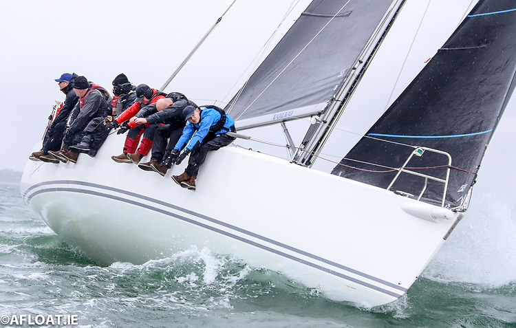 John Murphy and Richard Colwell's Howth based J109 Outrajeous that missed out on the Dun Laoghaire Dingle Race earlier in June will be on the Sovereign's Cup starting line in Kinsale this morning