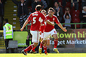Gary Roberts of Swindon (r) celebrates scoring their second goal. Swindon Town v Stevenage - npower League 1 -  County Ground, Swindon - 20th April, 2013. © Kevin Coleman 2013..