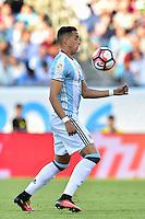 Foxborough, MA - Saturday June 18, 2016: Ramiro Funes Mori prior to a Copa America Centenario quarterfinal match between Argentina (ARG) and Venezuela (VEN)  at Gillette Stadium.