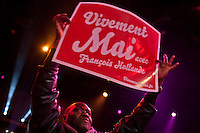 Parigi Bercy Manifestazione preelettorale di Hollande - Elezioni presidenziali 2012 Paris Bercy event of Hollande pre-election - Presidential elections 2012 Manifestanti, Supporter