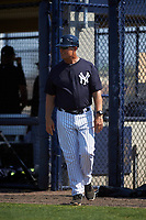 New York Yankees manager Jay Bell (70) during a minor league Spring Training game against the Detroit Tigers on March 22, 2017 at the Yankees Complex in Tampa, Florida.  (Mike Janes/Four Seam Images)