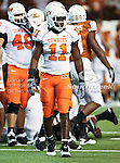 Oklahoma State Cowboys linebacker Shaun Lewis (11) in action during the game between the Oklahoma State Cowboys and the University of Texas in Austin Texas Longhorns at the Daryl K. Royal- Texas Memorial Stadium in Austin, Texas. The Oklahoma State Cowboys defeated the Texas Longhorns 33 to 16.