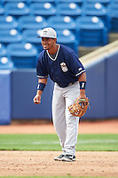 Lake County Captains third baseman Ordomar Valdez (11) during pratcie before a game against the Fort Wayne TinCaps on May 20, 2015 at Classic Park in Eastlake, Ohio.  Lake County defeated Fort Wayne 4-3.  (Mike Janes/Four Seam Images)
