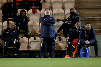 Crawley Town manager John Yems during Colchester United vs Crawley Town, Sky Bet EFL League 2 Football at the JobServe Community Stadium on 1st December 2020