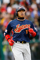 of Japan during World Baseball Championship at Angel Stadium in Anaheim,California on March 12, 2006. Photo by Larry Goren/Four Seam Images