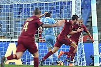 Esultanza dopo il gol di Kevin Strootman Roma. Goal celebration.<br /> Roma 4-12-2016  Stadio Olimpico<br /> Campionato Serie A, Derby<br /> Lazio -  AS roma<br /> Foto Antonietta Baldassarre / Insidefoto