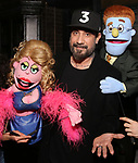 """AJ McLean from the Backstreet Boys backstage with  the cast and crew of  """"Avenue Q""""  at the New World Stages on January 27, 2019 in New York City."""