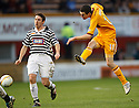 MOTHERWELL'S JAMIE MURPHY SCORES MOTHERWELL'S SECOND GOAL..07/01/2012 sct_jsp006_motherwell_v_queens_park     .Copyright  Pic : James Stewart.James Stewart Photography 19 Carronlea Drive, Falkirk. FK2 8DN      Vat Reg No. 607 6932 25.Telephone      : +44 (0)1324 570291 .Mobile              : +44 (0)7721 416997.E-mail  :  jim@jspa.co.uk.If you require further information then contact Jim Stewart on any of the numbers above.........