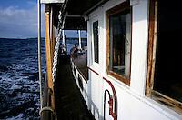 Gangway of a cruising sailboat, Vanuatu