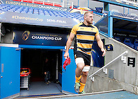 Photo: Richard Lane/Richard Lane Photography. Wasps Captains Run ahead of their game against Saracens in the European Champions Cup Semi Final at the Madejski Stadium. 22/04/2016. James Haskell.