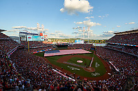 General view of the flag presentation for the National Anthem before the MLB All-Star Game on July 14, 2015 at Great American Ball Park in Cincinnati, Ohio.  (Mike Janes/Four Seam Images)