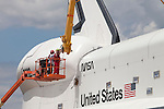 Space Shuttle Enterprise arrives at Intrepid Museum