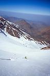 Ski descent of Tizi Likemt (3600), High Atlas, Morocco, 2017