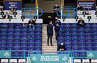 Members of the press sit socially distant in the press area<br /> <br /> Photographer Alex Dodd/CameraSport<br /> <br /> The EFL Sky Bet Championship - Huddersfield Town v Wigan Athletic - Saturday 20th June 2020 - John Smith's Stadium - Huddersfield <br /> <br /> World Copyright © 2020 CameraSport. All rights reserved. 43 Linden Ave. Countesthorpe. Leicester. England. LE8 5PG - Tel: +44 (0) 116 277 4147 - admin@camerasport.com - www.camerasport.com