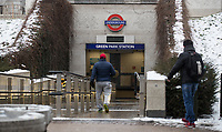 Green Park Tube Station - Snow in London as Beast from the East weather continues at City of London, London, England on 1 March 2018. Photo by Andy Rowland.