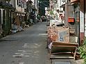 Hijikawa river flood aftermath