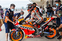 2nd October 2021; Austin, Texas, USA;  Marc Marquez (93) - (SPA) leaves the pits for Free Practise 3 at the MotoGP Red Bull Grand Prix of the Americas held October 2, 2021 at the Circuit of the Americas in Austin, TX.