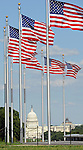US Capitol with flags, Washington, D.C., Lincoln Memorial, Washington Monument, US Capital, United States Capital with flags, US flags, Lincoln memorial and washington monumnet, Washington DC, District, DC, capital, Potomac River, Washington Metropolitain, metropolitan area, federal district, federal government of USA, US Congress, White House, National Mall, Politics in the United States, Presidential, Federal Republic, united States Congress, powers, Judicial Power, House of Representatives, US Senate, Consitiution, federal law, Democratic Party, Republican party, two party system, Fine Art Photography by Ron Bennett, Fine Art, Fine Art photo, Art Photography,