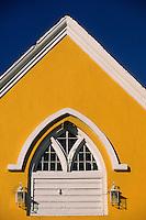 Iles Bahamas / New Providence et Paradise Island / Nassau: détail façade d'un ancien batiment du port