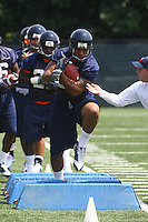 Virginia running back Max Milien during open spring practice for the Virginia Cavaliers football team August 7, 2009 at the University of Virginia in Charlottesville, VA. Photo/Andrew Shurtleff