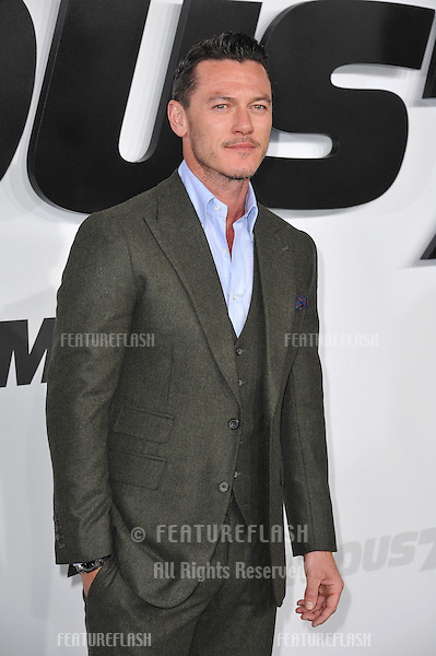 """Luke Evans at the world premiere of his movie """"Furious 7"""" at the TCL Chinese Theatre, Hollywood.<br /> April 1, 2015  Los Angeles, CA<br /> Picture: Paul Smith / Featureflash"""