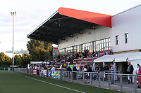 General view of the ground during Woodford Town vs London Colney, Emirates FA Cup Football at The Harlow Arena on 31st August 2020