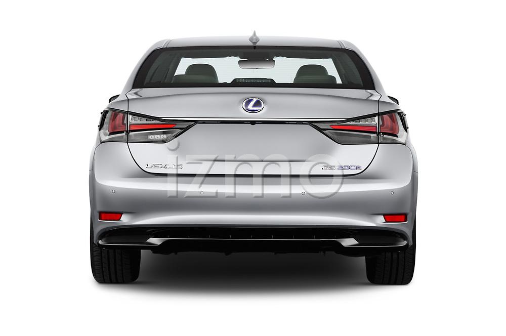 Straight rear view of 2017 Lexus GS Executive-Line 4 Door Sedan Rear View  stock images