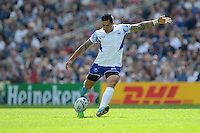 Tusi Pisi of Samoa takes a penalty kick during Match 6 of the Rugby World Cup 2015 between Samoa and USA - 20/09/2015 - Brighton Community Stadium, Brighton <br /> Mandatory Credit: Rob Munro/Stewart Communications