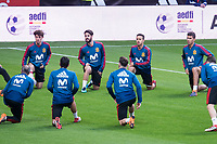 Spain Alvaro Odriozola, Isco and Thiago Alcantara during training session the day before Spain and Argentina match at Wanda Metropolitano in Madrid , Spain. March 26, 2018. (ALTERPHOTOS/Borja B.Hojas) /NortePhoto NORTEPHOTOMEXICO