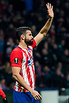 Diego Costa of Atletico de Madrid celebrates during the UEFA Europa League 2017-18 Round of 16 (1st leg) match between Atletico de Madrid and FC Lokomotiv Moscow at Wanda Metropolitano  on March 08 2018 in Madrid, Spain. Photo by Diego Souto / Power Sport Images