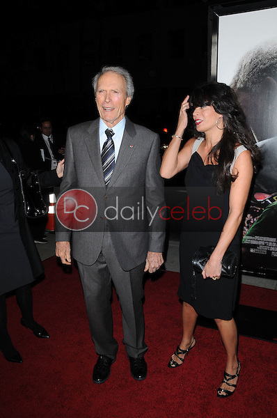 """Clint Eastwood and Dina Eastwood<br /> at the """"Invictus"""" Los Angeles Premiere, Academy of Motion Picture Arts and Sciences, Beverly Hills, CA.  12-03-09<br /> David Edwards/Dailyceleb.com 818-249-4998"""