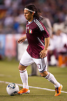 Jesus Gomez (10) forward for Venezuela. The national teams of Mexico and Venezuela played to a 1-1 draw in an International friendly match at  Qualcomm stadium in San Diego, California on  March 29, 2011...