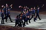 Olympic team of Great Britain during the parade of nations at the Opening ceremony of the 2014 Sochi Olympic Winter Games at Fisht Olympic Stadium on February 7, 2014 in Sochi, Russia. Photo by Victor Fraile / Power Sport Images