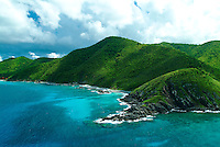 Aerial view of the northwest side of<br /> St Croix showing Annaly Bay<br /> U.S. Virgin Islands