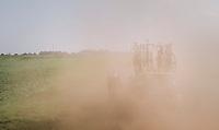 John Harris (USA/CCB Velotooler) trying to move up through a dust storm<br /> <br /> 92nd Schaal Sels 2017 <br /> 1 Day Race: Merksem > Merksem (188km)