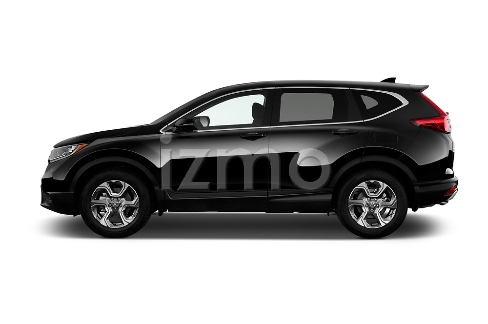 Car Driver side profile view of a 2018 Honda CR-V EX-L 5 Door SUV Side View