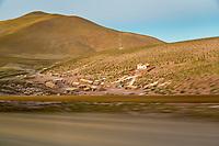 Dreamy little hamplet, at sunrise Atacama Desert, Chile