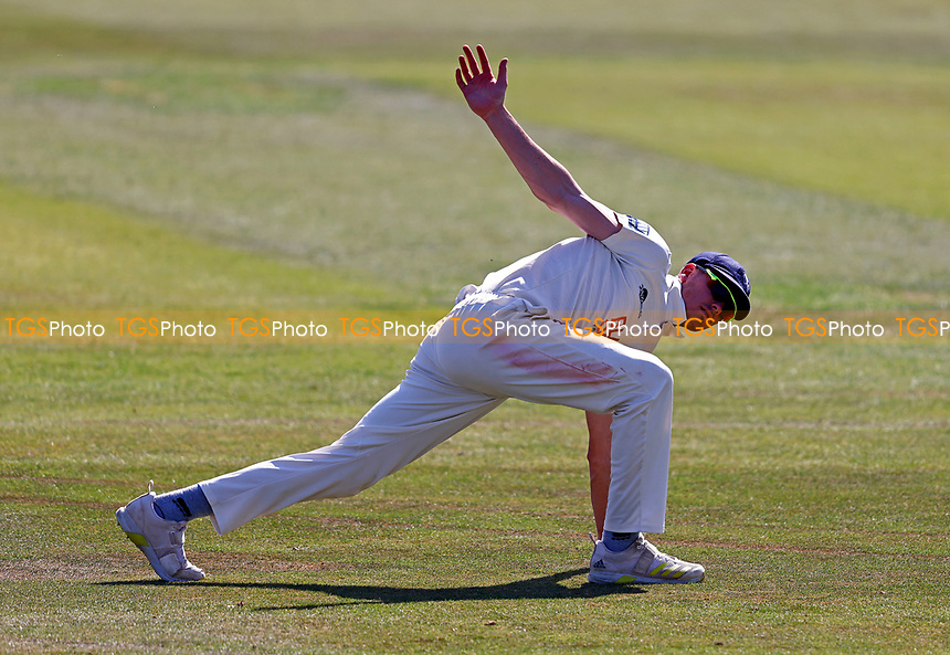 Nathan Gilchrist of Kent warms up during Kent CCC vs Worcestershire CCC, LV Insurance County Championship Division 3 Cricket at The Spitfire Ground on 7th September 2021