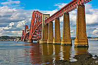 A view of the Firth of Forth Bridge in South Queensferry Scotland