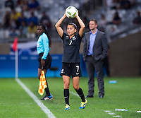 Belo Horizonte, Brazil - August 6, 2016:  New Zealand defeated Colombia 1-0 during group stage of the 2016 Olympic games at Mineirao Stadium.
